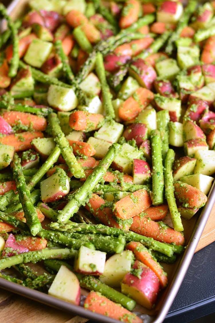 Orange-Roasted Potatoes, Carrots, and Asparagus