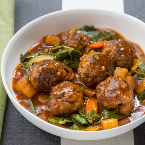 Meatball Ragout with Swiss Chard