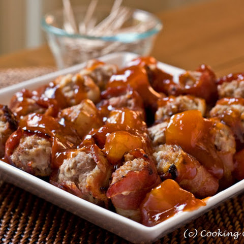 Bacon Wrapped Sweet & Sour Meatballs