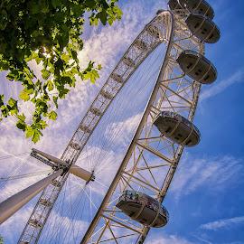The London Eye by Graeme Hunter - Buildings & Architecture Bridges & Suspended Structures