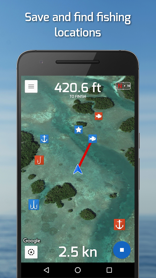 Fishing Points: GPS & Forecast Screenshot 0