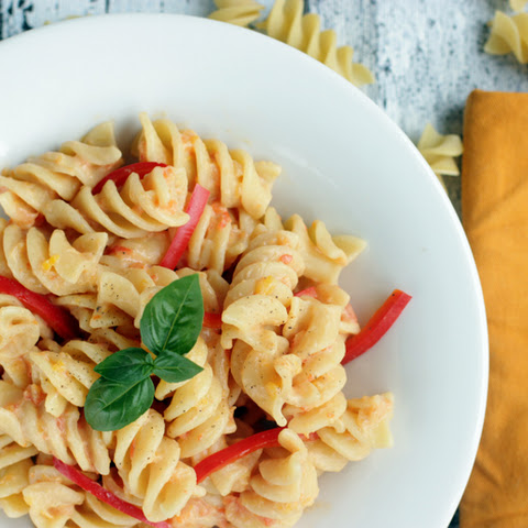 Fusilli with Roasted Red Pepper Pesto