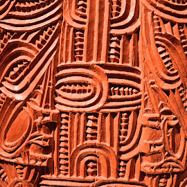 whare by Rachel Rachel - Buildings & Architecture Architectural Detail ( carved, wooden, traditional, historical, maori )