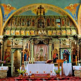 Orthodox church in Smolnik  by Tomasz Budziak - Buildings & Architecture Public & Historical ( buildings, poland, churches, orthodox, architecture )