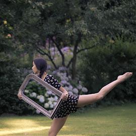 Reflection by Annemarie Rulos  - People Musicians & Entertainers ( dancer, art, modern, modern dance, ballet, dance )