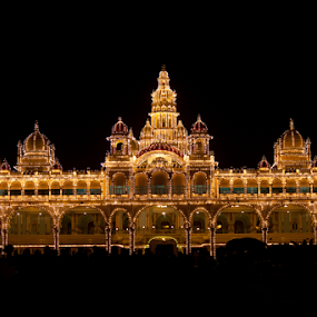 Mysore Palace by . Reedd2 - Buildings & Architecture Public & Historical ( lights, mysore, india, kerala, palace, mysore palace,  )