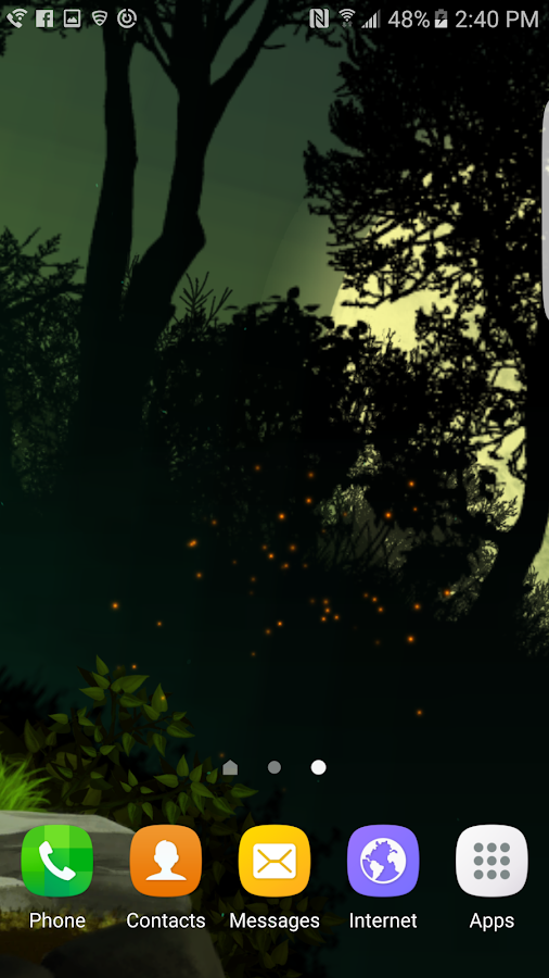 Fantasy Night Forest  Live WP Screenshot 1