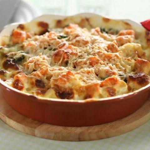 Chicken casserole with cheese (Diet foods)