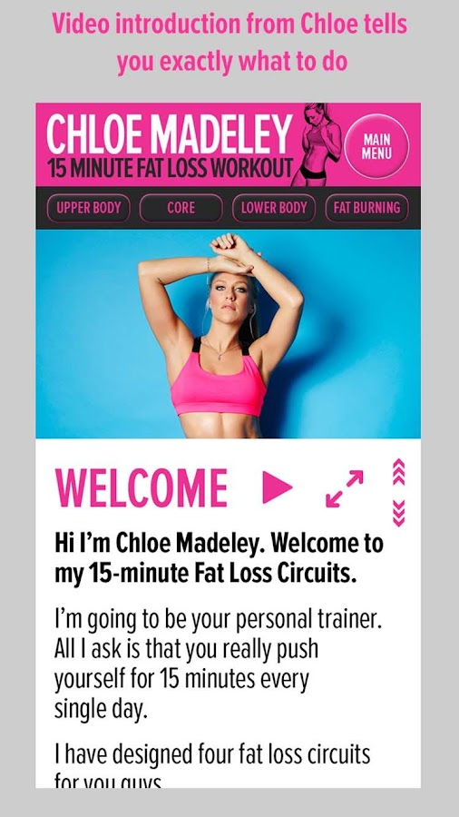 Chloe Madeley 15 Min Fat Loss Screenshot 1