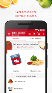 REWE Lieferservice, Supermarkt Screenshot