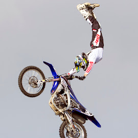 Stretched out by Michael Roselt - Sports & Fitness Motorsports ( flying, offroad, fmx, motorcycle, freestyle )