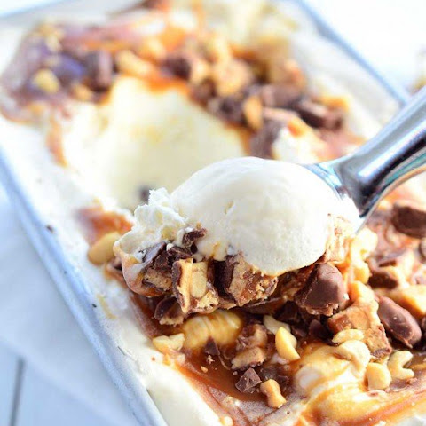No Churn Snickers Ice Cream