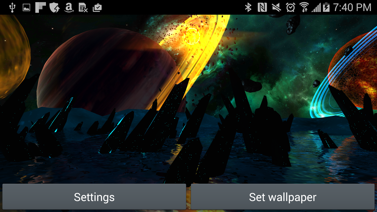 Far Galaxy 3D Live Wallpaper Screenshot 16