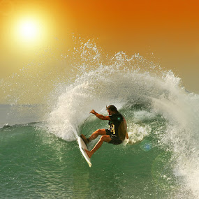 The Sunset Swing by Alit  Apriyana - Sports & Fitness Surfing