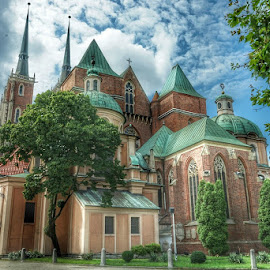 Cathedral island by Adam Lang - Buildings & Architecture Places of Worship ( wroclaw, poland )