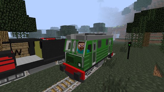 minecraft pe how to build a train station
