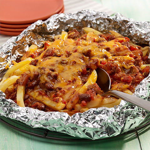 Grilled Chili Cheese Fries Foil Packet