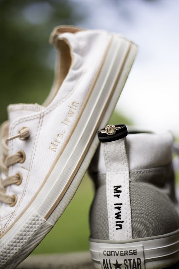 We Walk Together by Lindsey Sides - Wedding Details ( wedding photography, mrandmrs, details, wedding, converse, rings, custom, customshoes )