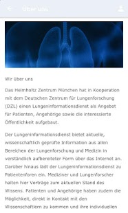 Lungeninformationsdienst Screenshot
