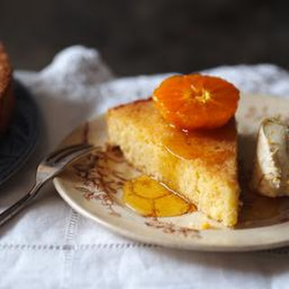 Almond And Lemon Polenta Cake With Orange Mascarpone