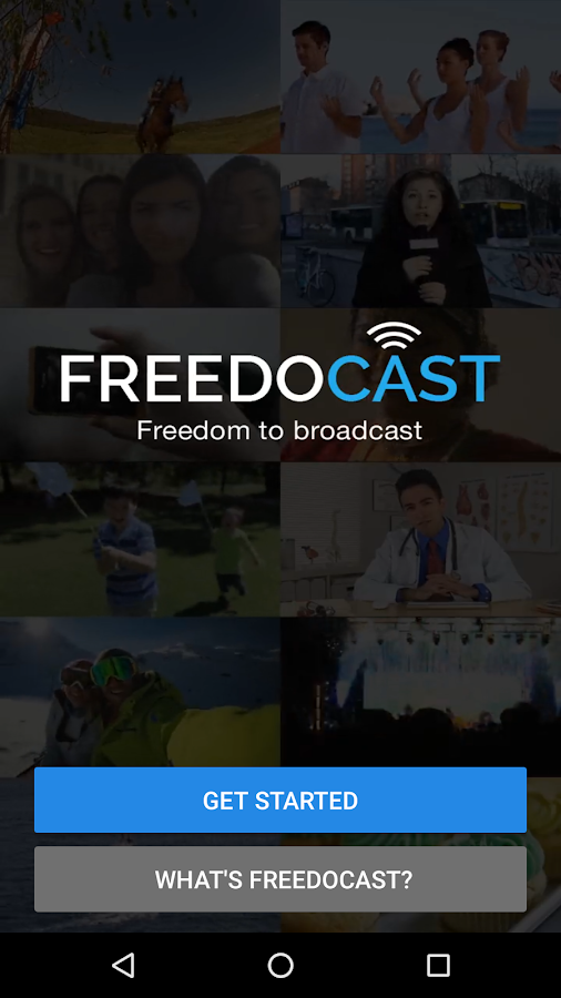 Freedocast-BroadcastLive(Beta) Screenshot 0