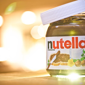 Nutella by James Realmwalker Johansson - Food & Drink Candy & Dessert ( realmwalker, painting, light, bokeh, nutella )