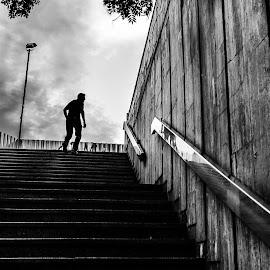 Escape by Marius Cinteza - City,  Street & Park  Street Scenes