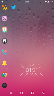 S7 Pink Launcher Theme - screenshot