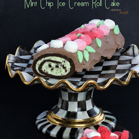 Mint Chocolate Roll Cake