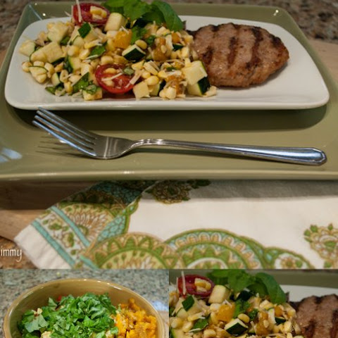 Italian Turkey Burgers with Fresh Corn Salad