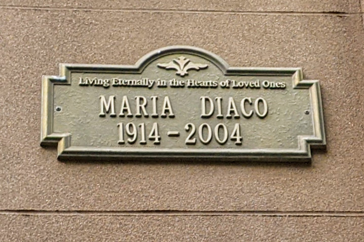 Living Eternally in the Hearts of Loved Ones MARIA DIACO 1914-2004Submitted by @lampbane