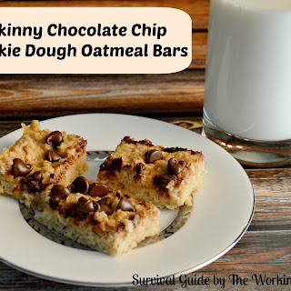 Skinny Chocolate Chip Cookie Dough Oatmeal Bars
