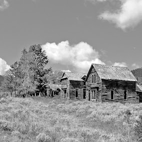 Abandoned Town by James Oviatt - Black & White Buildings & Architecture