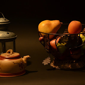 Shaded by Lorraine D.  Heaney - Novices Only Objects & Still Life ( fruit, kettle, still life,  )