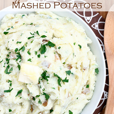 Garlic Cream Cheese Mashed Potatoes