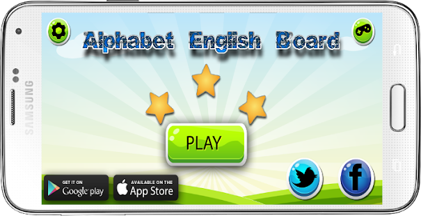 alphabet english board - screenshot