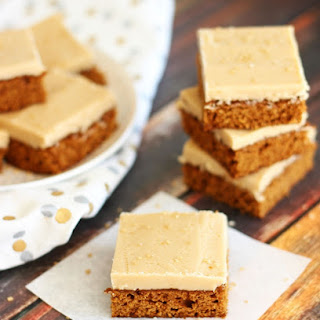 Gingerbread Bars with Maple Brown Sugar Frosting