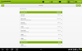 Screenshot of TrackMySPEND