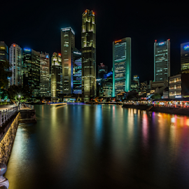 Concrete Jungle by SooSing Goh - City,  Street & Park  Skylines ( reflection, cbd, shenton, riverside, singapore,  )