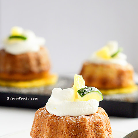 Pineapple and Lime Mini Bundt Cakes