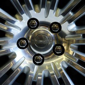 Chrysler by Joseph Basukarno - Abstract Macro ( canon, abstract, chrysler, still life, silver )