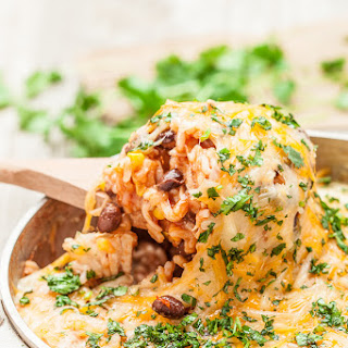 One Pot Enchilada Rice Casserole