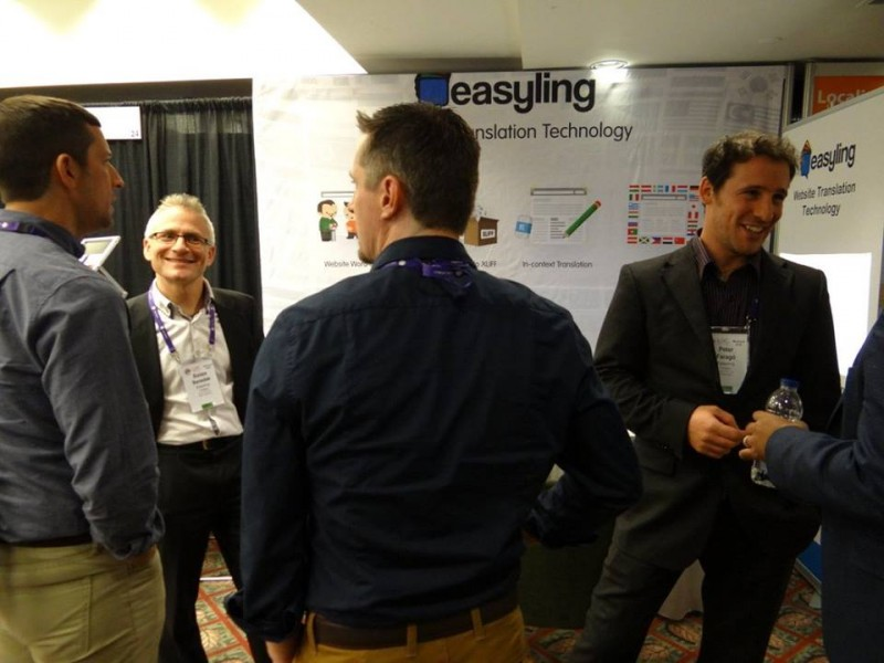 Easyling's booth at Locworld32 Montreal