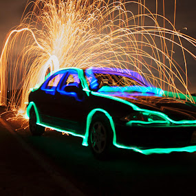 Car of the future by Aaron Rigsby - Abstract Light Painting