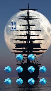 The bright moon sea sailing th - screenshot