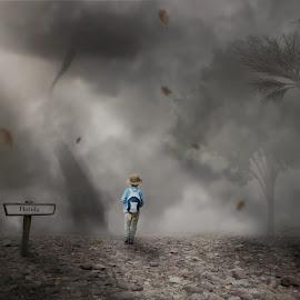 Irma by Frank Quax - Digital Art People ( clouds, creative, tornado, manipulation, photoshop )