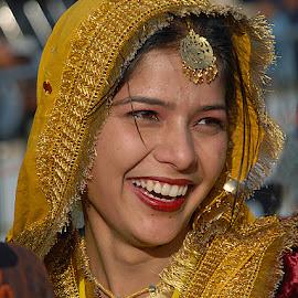 Village Girl from Punjab by Rakesh Syal - People Portraits of Women