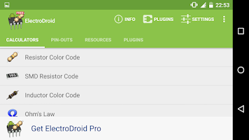 Screenshot of ElectroDroid