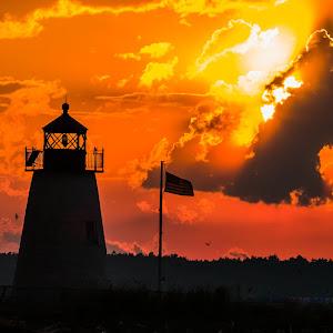 Bird Island Setting Sun with Flag.jpg