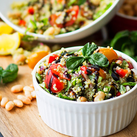Tuscan White Bean and Quinoa Salad {Healthy, Gluten-Free, Vegan}